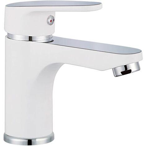 SCHÜTTE Basin Mixer Tap ALASKA White and Chrome - White