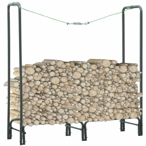 vidaXL Firewood Rack Anthracite 120x35x120 cm Steel - Grey