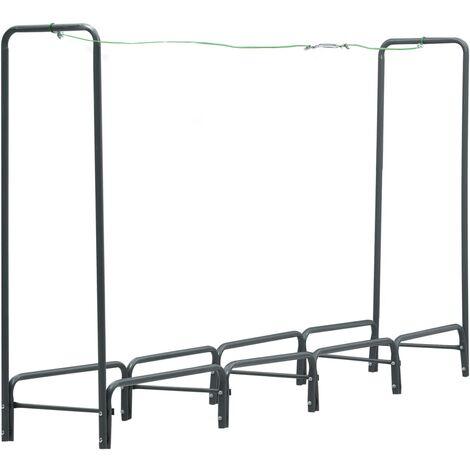 vidaXL Firewood Rack Anthracite 240x35x120 cm Steel - Grey