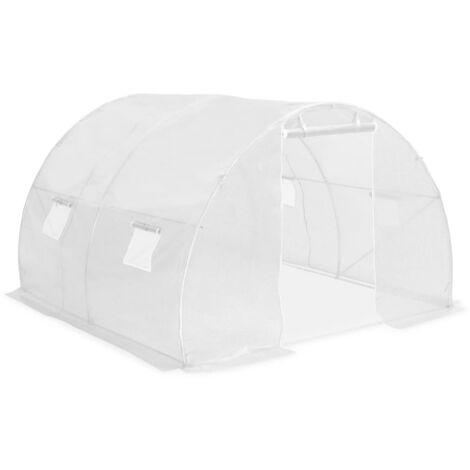 vidaXL Greenhouse 9m² 300x300x200 cm - White