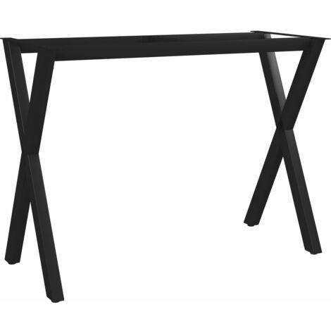 vidaXL Dining Table Leg X-Frame 100x40x72 cm - Black