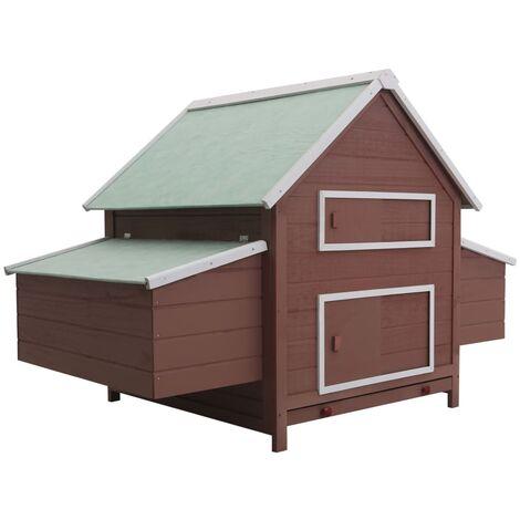 vidaXL Chicken Coop Brown 157x97x110 cm Wood - Brown