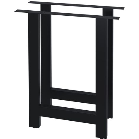 vidaXL Dining Table Legs 2 pcs H Frame 60x72 cm