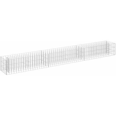 vidaXL Gabion Raised Bed Galvanised Steel 270x30x30 cm - Silver