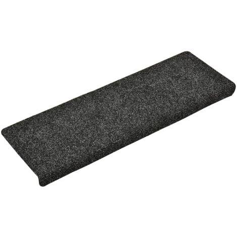 vidaXL Stair Mats 15 pcs Needle Punch 65x25 cm Grey - Grey