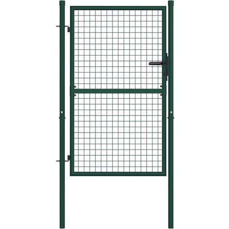 vidaXL Fence Gate Steel 100x125 cm Green - Green
