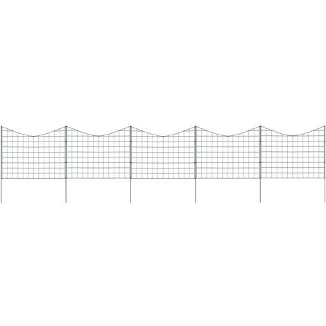 vidaXL Lower Arch Pond Fence Set 77.5x64 cm Green - Green