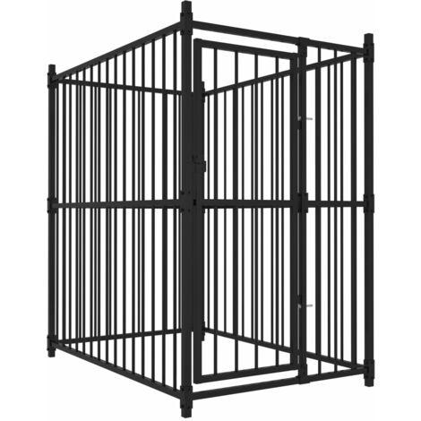 vidaXL Outdoor Dog Kennel 150x100x150 cm - Black