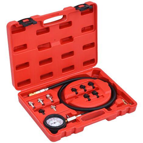 12 Piece vidaXL Oil Pressure Gauge Tester Kit