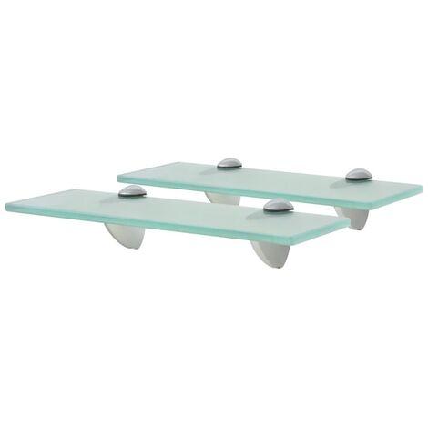 vidaXL Floating Shelves 2 pcs Glass 8 mm 30x10 cm - Transparent