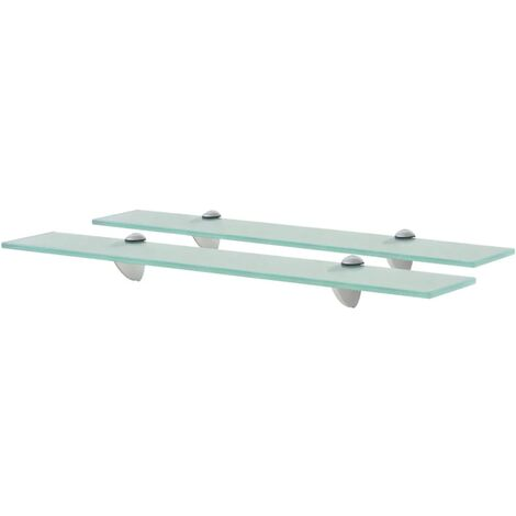 vidaXL Floating Shelves 2 pcs Glass 8 mm 60x10 cm - Transparent