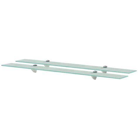 vidaXL Floating Shelves 2 pcs Glass 8 mm 90x10 cm - Transparent