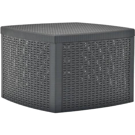 vidaXL Side Table 54x54x36.5 cm Plastic Anthracite - Anthracite