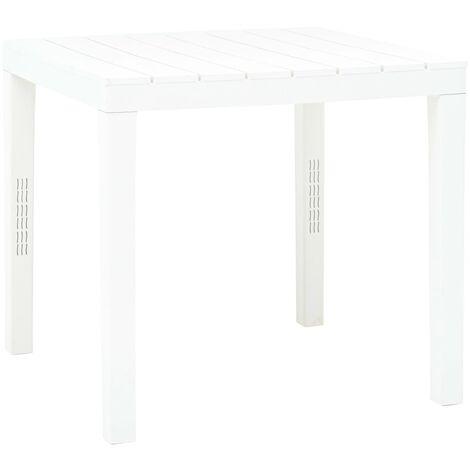 vidaXL Garden Table 78x78x72 cm Plastic White - White