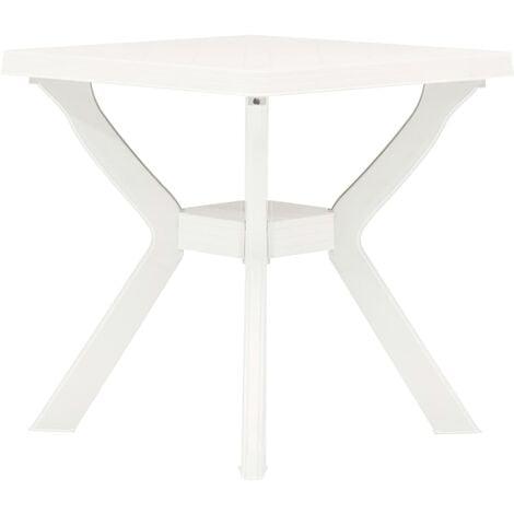 vidaXL Bistro Table 70x70x72 cm Plastic White - White