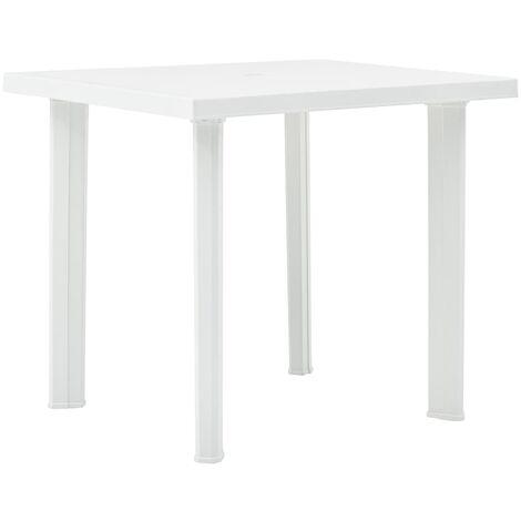 vidaXL Garden Table 80x75x72 cm Plastic White - White