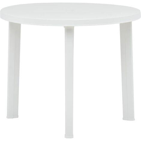 vidaXL Garden Table 89 cm Plastic White - White