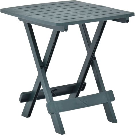 vidaXL Folding Garden Table 45x43x50 cm Plastic Green - Green