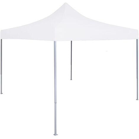 vidaXL Professional Folding Party Tent 3x3 m Steel White - White