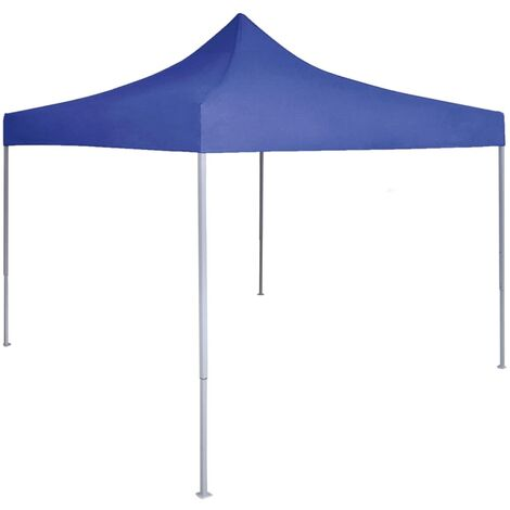 vidaXL Professional Folding Party Tent 2x2 m Steel Blue - Blue