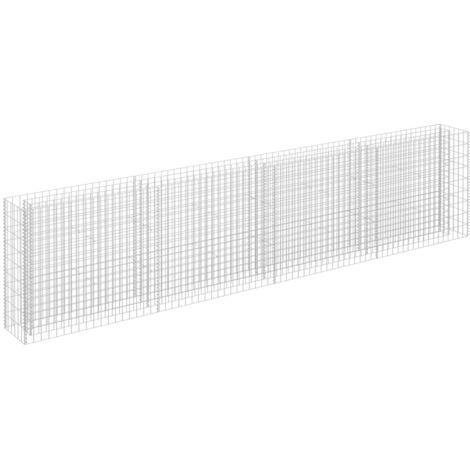 vidaXL Gabion Raised Bed Galvanised Steel 360x30x90 cm - Silver