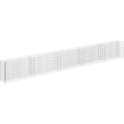 vidaXL Gabion Raised Bed Galvanised Steel 450x30x60 cm - Silver
