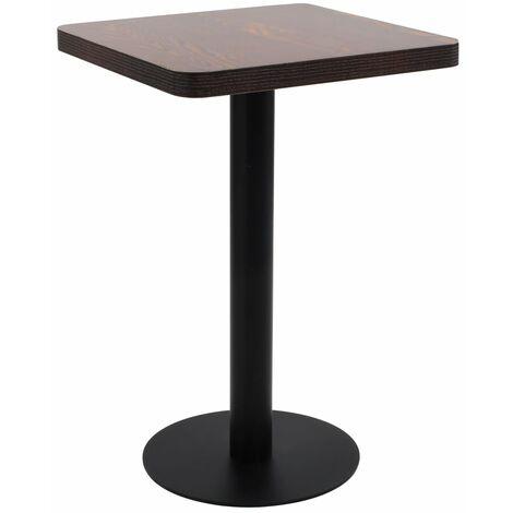 vidaXL Bistro Table Dark Brown 50x50 cm MDF - Brown