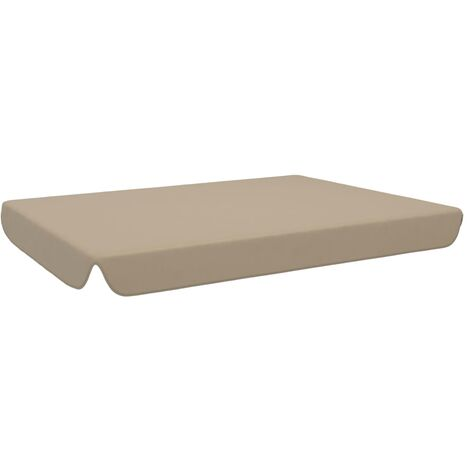 vidaXL Replacement Canopy for Garden Swing Taupe 192x147 cm - Brown