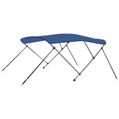 vidaXL 3 Bow Bimini Top Blue 183x196x137 cm