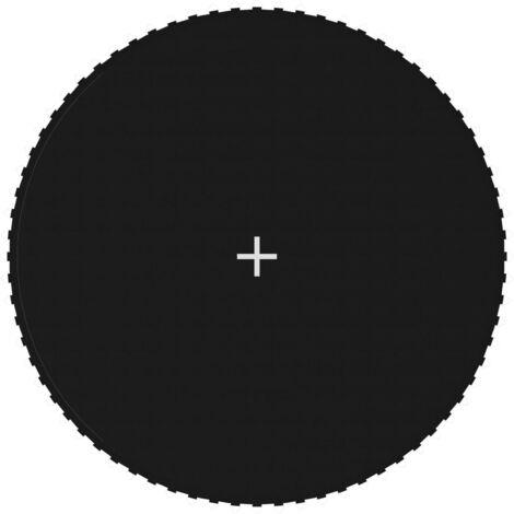 vidaXL Jumping Mat Fabric Black Round Trampoline for 13 Feet/3,96 m - Black