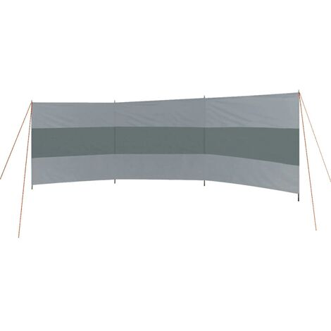 Bo-Camp Windbreak with Top Beams Caira 500x140 cm Grey - Grey