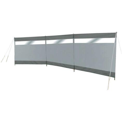 Bo-Camp Windbreak with Window Dennis 500x140 cm Grey - Grey