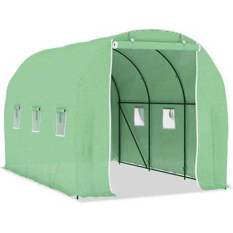 vidaXL Greenhouse 6.86 m² 3.43x2x2 m - Green