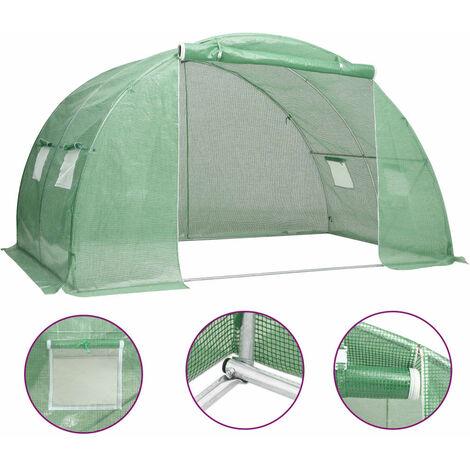 vidaXL Greenhouse 8 m² 2x4x2 m - Green