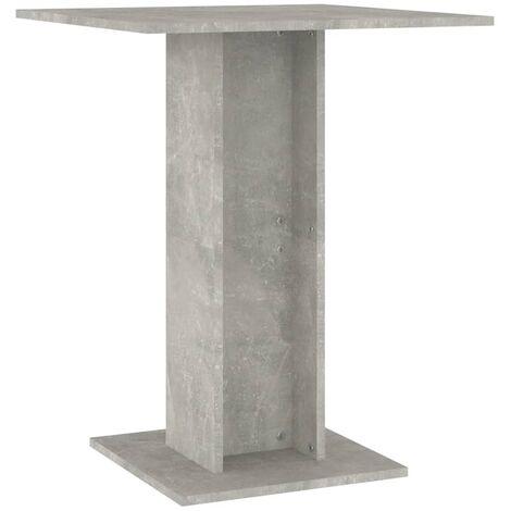 vidaXL Bistro Table Concrete Grey 60x60x75 cm Chipboard - Grey