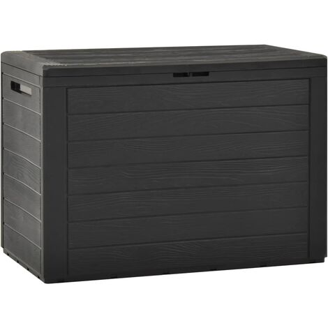 vidaXL Garden Storage Box Anthracite 78x44x55 cm - Anthracite