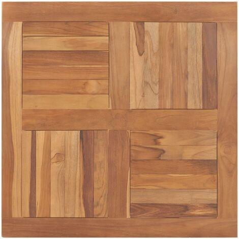 vidaXL Table Top Solid Teak Wood Square 80x80x2,5 cm - Brown