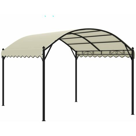 vidaXL Gazebo Fabric Cream - Cream