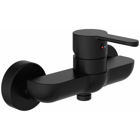 SCHÜTTE Shower Mixer DENVER Matt Black - Black