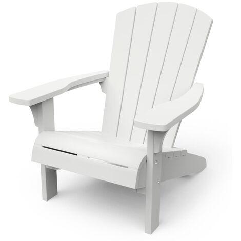 Keter Adirondack Chair Troy White - White