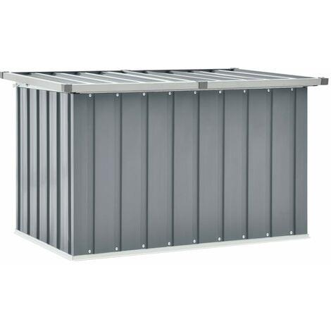vidaXL Garden Storage Box Grey 109x67x65 cm - Grey