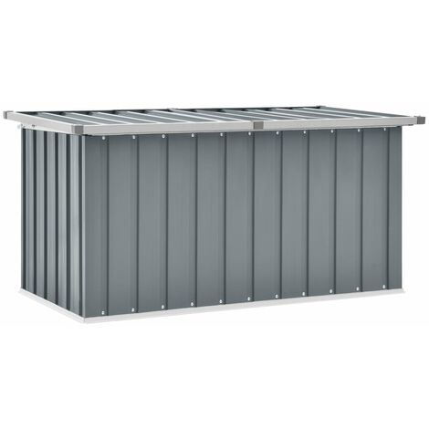 vidaXL Garden Storage Box Grey 129x67x65 cm - Grey