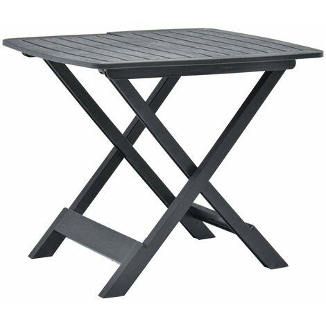 vidaXL Folding Garden Table 79x72x70 cm Plastic Anthracite - Anthracite