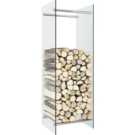 vidaXL Firewood Rack Transparent 40x35x120 cm Glass - Transparent