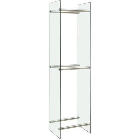 vidaXL Firewood Rack Transparent 40x35x160 cm Glass - Transparent