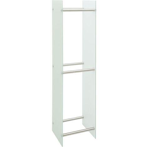 vidaXL Firewood Rack White 40x35x160 cm Glass - White