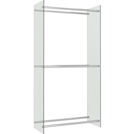 vidaXL Firewood Rack Transparent 80x35x160 cm Glass - Transparent