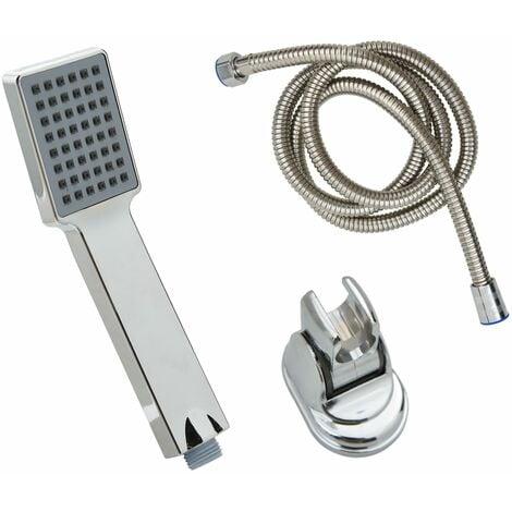 vidaXL Handheld Shower Head with 1.5 m Hose Chrome - Silver