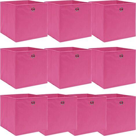 vidaXL Storage Boxes 10 pcs Pink 32x32x32 cm Fabric - Pink