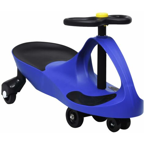 vidaXL Ride on Toy Wiggle Car Swing Car with Horn Blue - Blue